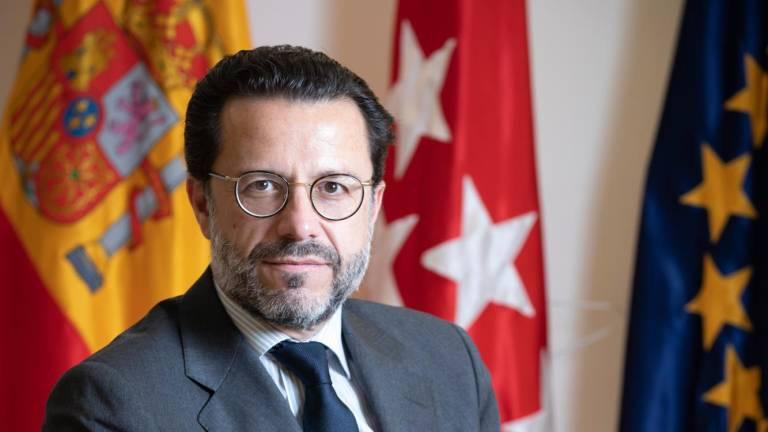 """Javier Fernández-Lasquetty, Consejero de Hacienda y Función Pública de la  Com. Madrid: """"Cuanto más vayamos reduciendo el sistema de pensiones, será  más débil"""""""